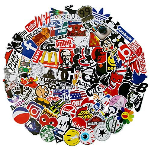 100Pack Logo Brand Stickers Set Random Sticker Decals