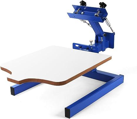 VEVOR Screen Printing Machine 17.7x21.7Inch Screen Printing Press 4 Color 4 Station Silk Screen Printing for T-Shirt DIY Printing Removable Palle