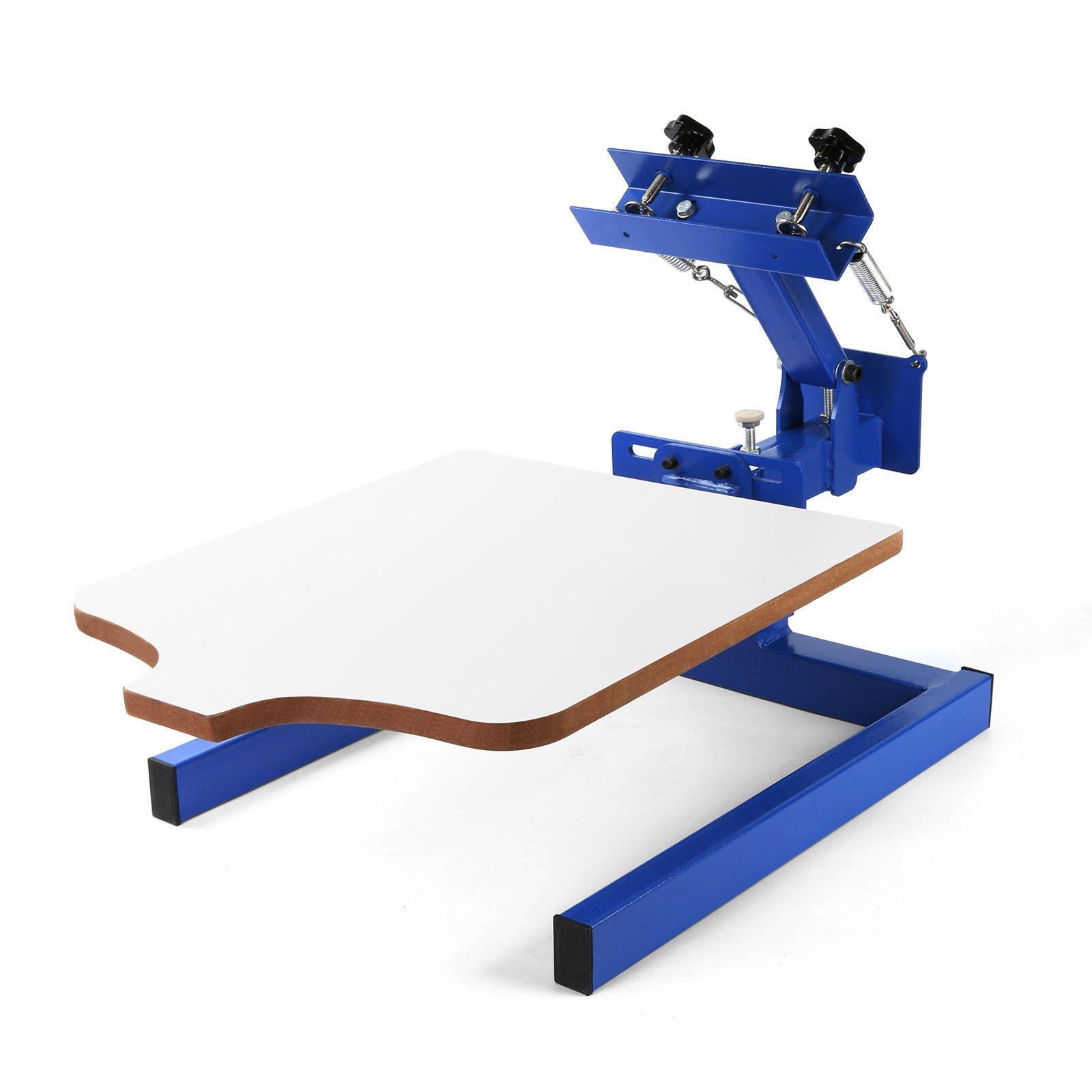 VEVOR Screen Printing Machine 17.7x21.7Inch Screen Printing Press 1 Color 1 Station Silk