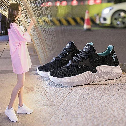 QQWWEERRTT Sommer Neue Sportschuhe Weibliche Breathable beiläufige Harajuku Wilde Laufende Schuhe