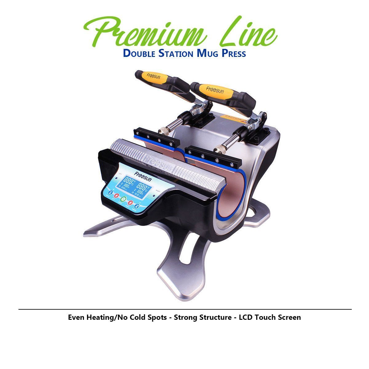 in USA Double Station Heat Press Transfer Sublimation Machine for Cup Coffee Mug WORLD-PAPER
