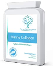 Marine Collagen 600mg 60 Capsules - Highly Bioavailable Naticol® Produced by enzymatic hydrolysis ensuring The Highest Levels of oligopeptides and All Eight Essential Amino acids with Maximum Purity