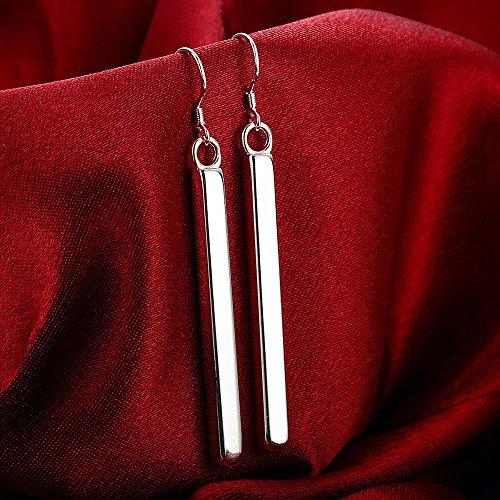 Buy silver long earrings