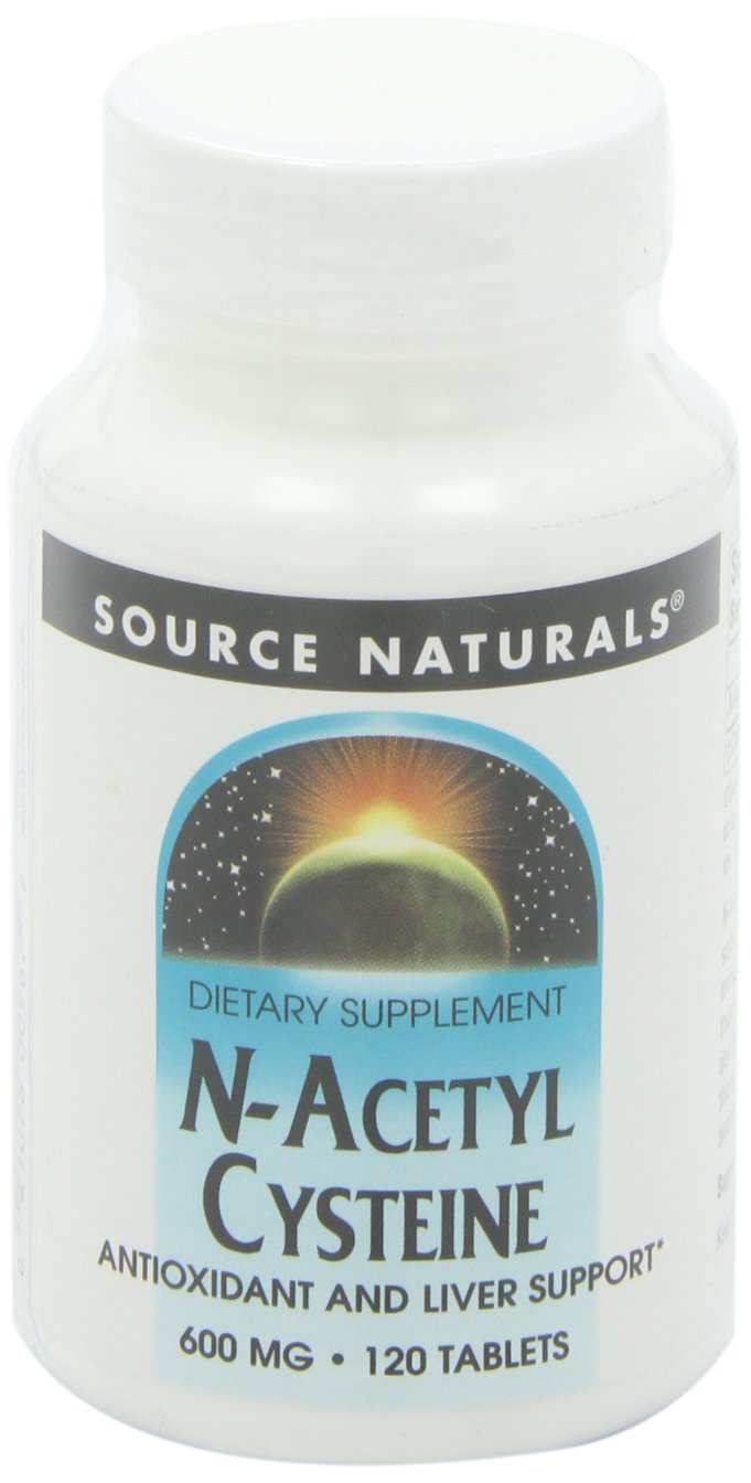 Source Naturals N-Acetyl Cysteine 600mg Powerful Antioxidant Pure Enzymes - 30 Tablets (Pack of 2)