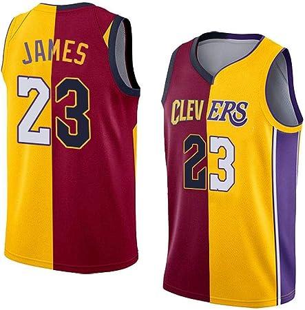 ZXQW NBA Baloncesto Uniformes Los Angeles Lakers Jersey 23# Lebron James Camiseta Nuevo Tela Bordada Camiseta Deportivas De Jersey De Verano Transpirable Sudadera Camisa Deportivas,A-XS: Amazon.es: Hogar