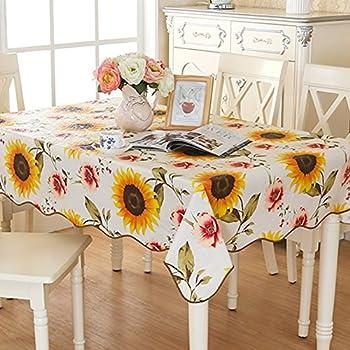 Amazon Com Berrnour Home Vinyl Sunflower Design Indoor
