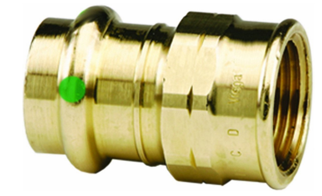 VIEGA 79315 Propress Zero Lead Bronze Adapter with Female 3/4'' x 3/4'' P x Female NPT (5-Pack)