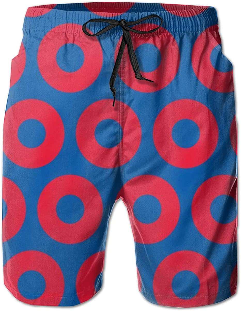 Mens Casual Sleep Shorts Phish Circles Swim Shorts Board Shorts