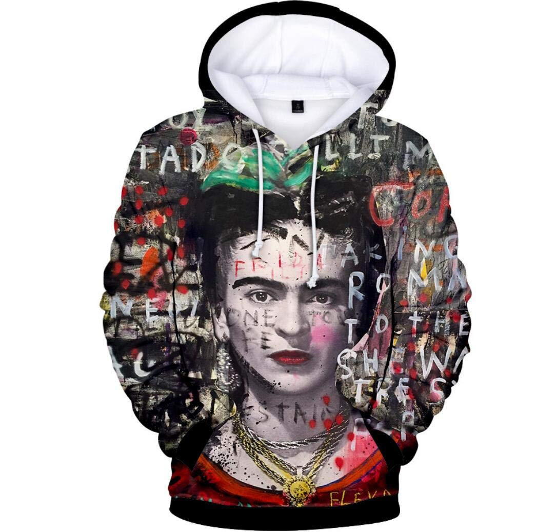 Yiyane Frida Kahlo Sweatshirt - Mexican Female Painter Hoddies Sweatshirt Coat Top for Men and Women