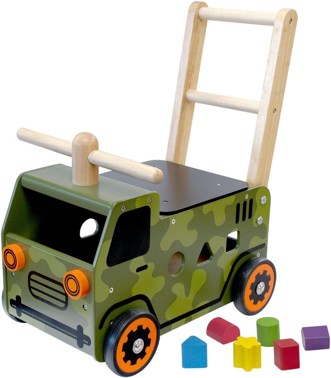 I M TOY - Correpasillos camión Militar Andador de Madera - IM87850