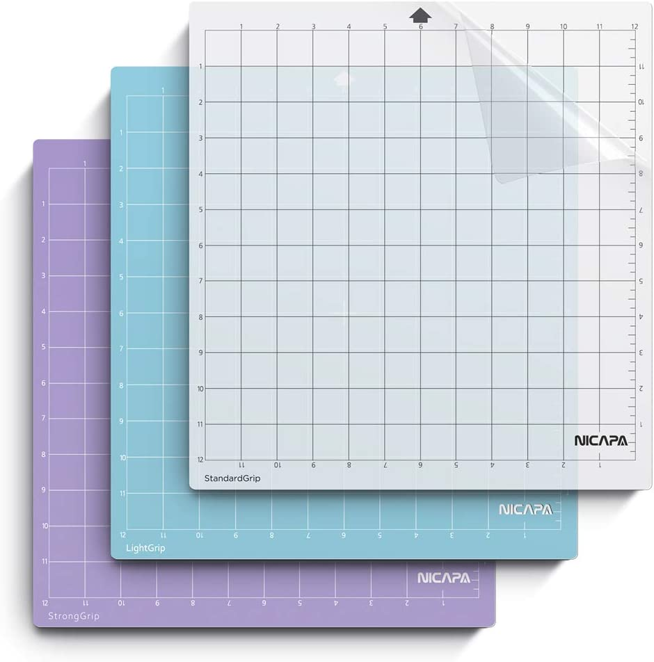 Cutting mat Replacement Accessories for T-Shorts Vinyl Craft standardgrip 12x24 inch Nicapa Cutting mat for Silhouette Cameo 4//3//2//1 3-Pack Non-Slip