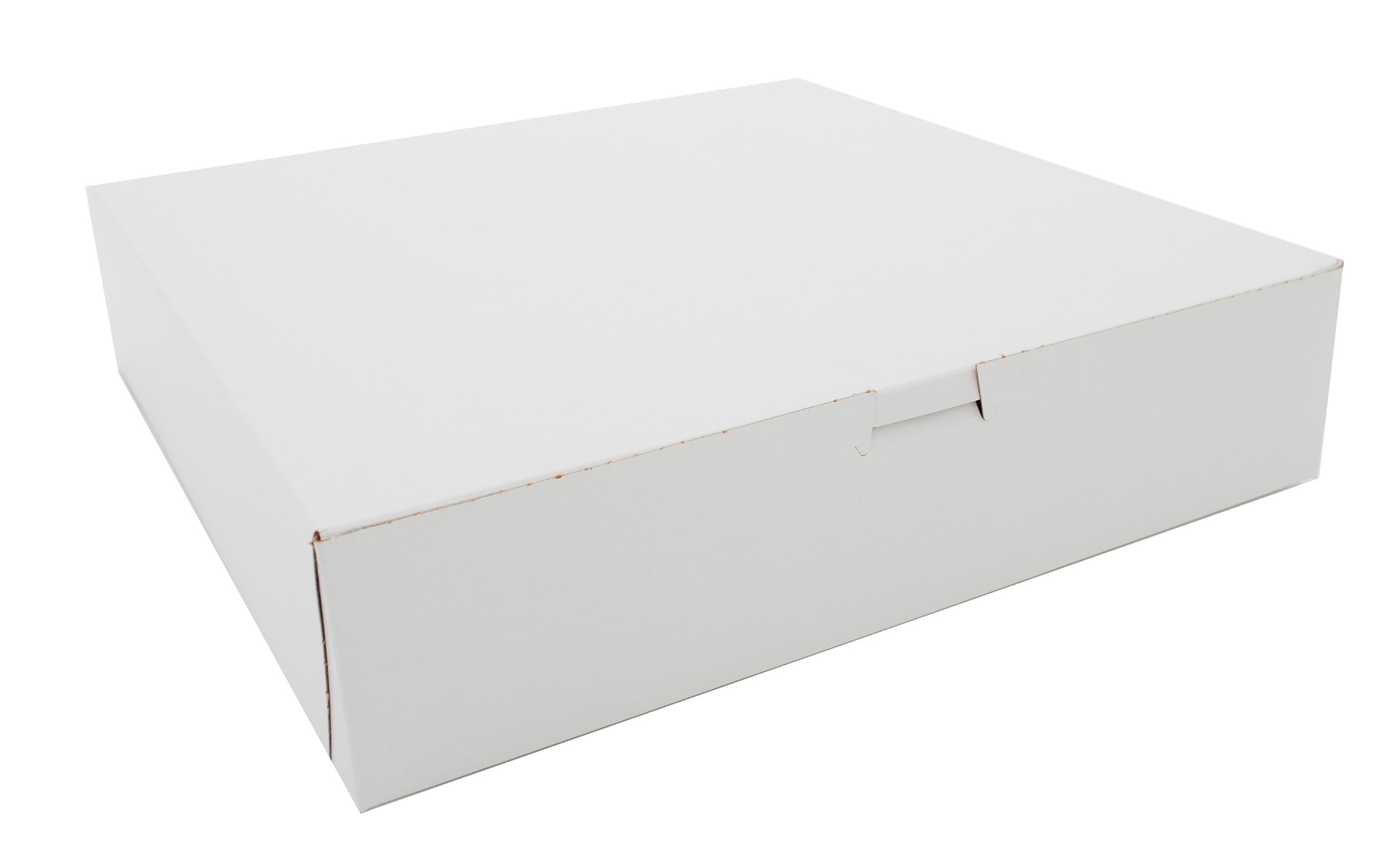 Southern Champion Tray 0984 Premium Clay Coated Kraft Paperboard White Non-Window Lock Corner Bakery Box, 12'' Length x 12'' Width x 2-3/4'' Height (Case of 100)