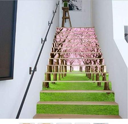 ZHOUHAOJIE Etiqueta De Escalera 3D Forest Stone 6 Unidades Set/Creativo DIY Etiqueta De Escalera 3D Habitación Decoración De La Escalera Decoración para El Hogar 200 * 18 Cm, F: Amazon.es: Hogar