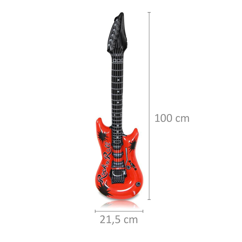 air guitar guitare gonflable 0355 S//o luftgitarren multicolore lot de 100 cm en 6 couleurs air