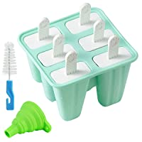 Helistar Popsicle Molds 6 Pieces Silicone Ice Pop Molds BPA Free Popsicle Mold Reusable...
