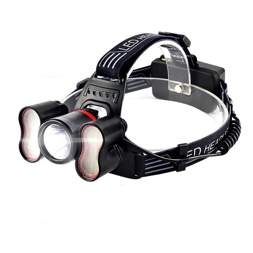 MUTANG Induktionsscheinwerfer Ultra Bright LED Head-Mounted Taschenlampe USB Wiederaufladbare Starke Scheinwerfer Wasserdichte Außenbeleuchtung Nachtfischen Lichter Camping Lichter Schutzhelm Licht