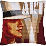 RTO Art Deco I Collection D'Art Stamped Needlepoint Cushion Kit, 40 x 40cm