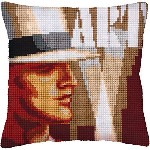 RTO Art Deco I Collection D'Art Stamped Needlepoint Cushion Kit, 40 x 40cm by RTO