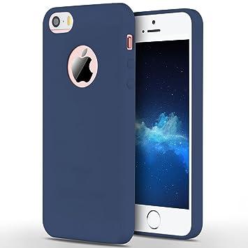 Anfire Funda iPhone 5S / SE / 5, Carcasa Silicona Gel TPU para Apple Ultra Delgado Suave Mate Goma Protectora Caso Flexible Caja Ligero Back Case ...