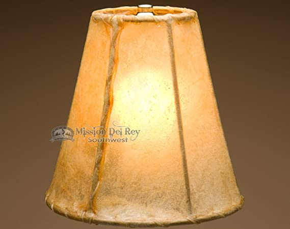 Rawhide lamp shades for western lamps 8 bell lampshades rawhide lamp shades for western lamps 8quot aloadofball Image collections
