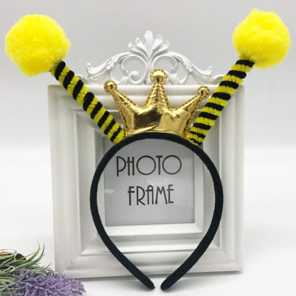 Lurrose 4 piezas halloween abeja antena diadema corona ...