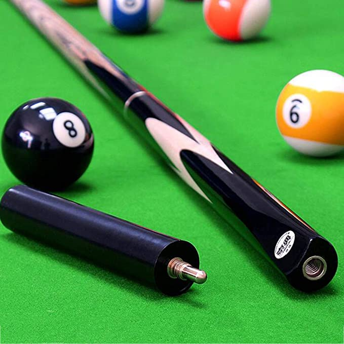 SSHHM Taco de Billar de Madera de Fresno, Pool Cue dividido 3/4, Snooker Cue de 18 oz, con Cabeza de 10 mm, Billar, Ocho Negros, Bola Nueve club/A / 145cm: Amazon.es: Bricolaje