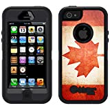 Skin Decal for Otterbox Defender iPhone 5 Case - Canada Vintage Flag