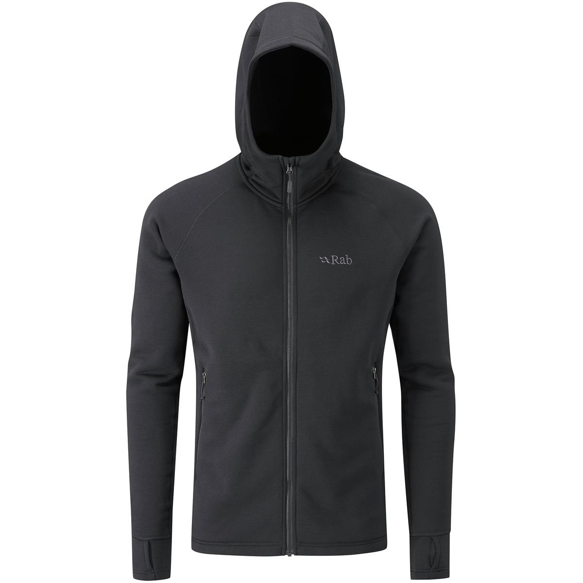 RAB Power Stretch Pro Fleece Hooded Jacket - Men's Black, XL