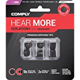 Comply Premium Replacement Foam Earphone Earbud Tips - Isolation Plus Tx-500 (Black, 3 Pairs, Medium)
