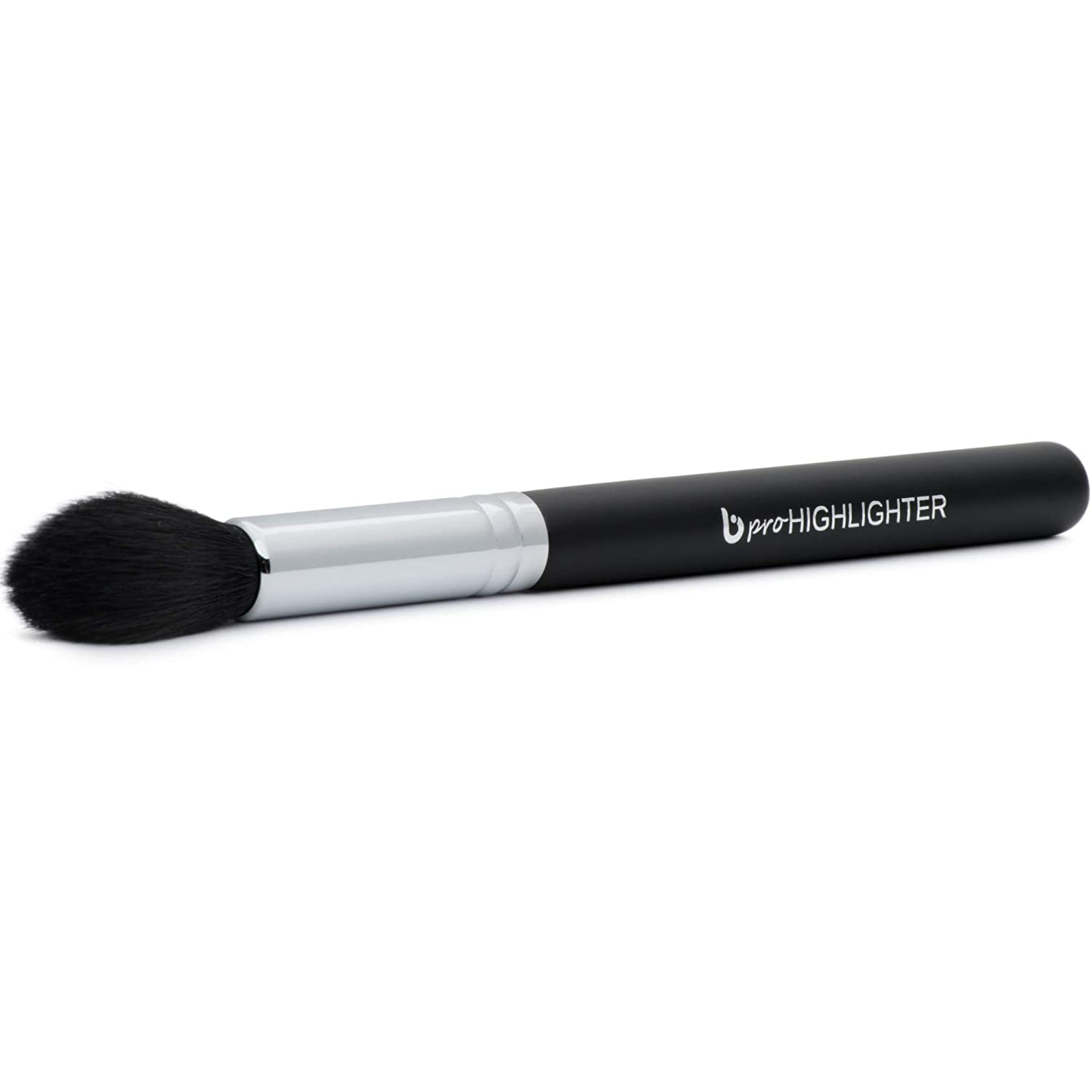Professional Tapered Highlighter Makeup Brush - Highlighting and Contour Face, Small Taper to Highlight Eyes, Brows, Works with Cream, Powder, Mineral Cosmetics, Premium Cruelty Free Synthetic Vegan