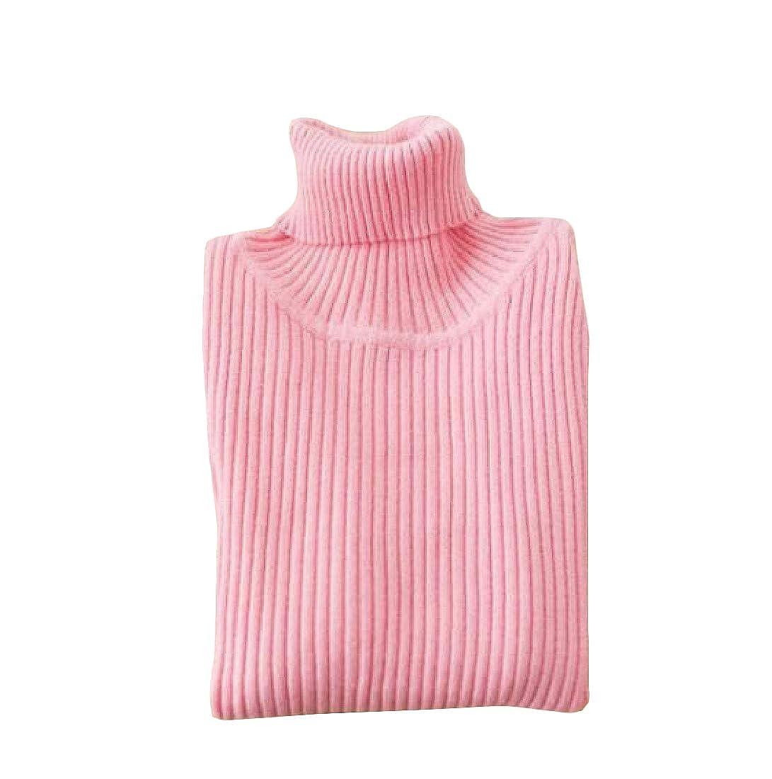 Pluszing Girls Soft Turtleneck Cute Winter Jumper Pullover Sweater