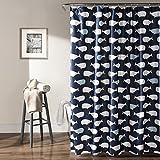 Lush Decor Whale Shower Curtain, 72