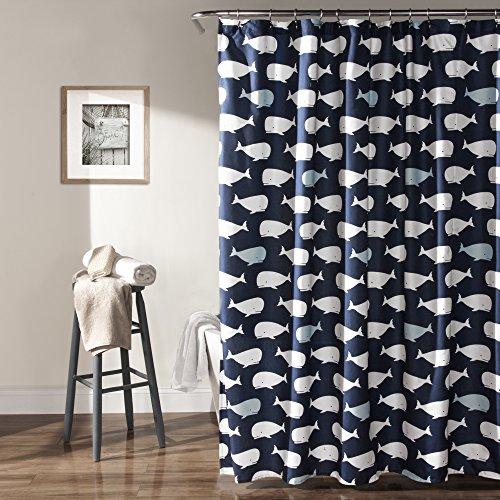 whale shower curtain - 1