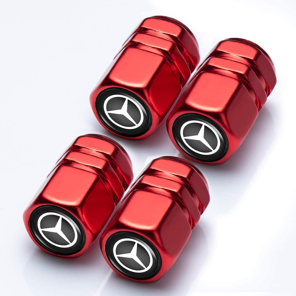 N//O 4 Pcs Metal Car Wheel Tire Valve Stem Caps for Mercedes-Benz Styling Decoration Accessories