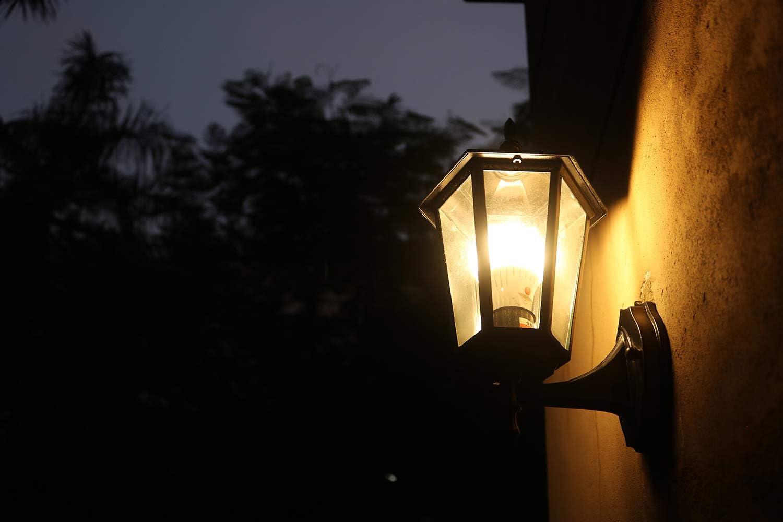 Light Bulb with Adjustable Light Sensor E26 Base Warm White 2-Pack 7W Replace 60W Elrigs LED Bulb Dusk to Dawn 3000K