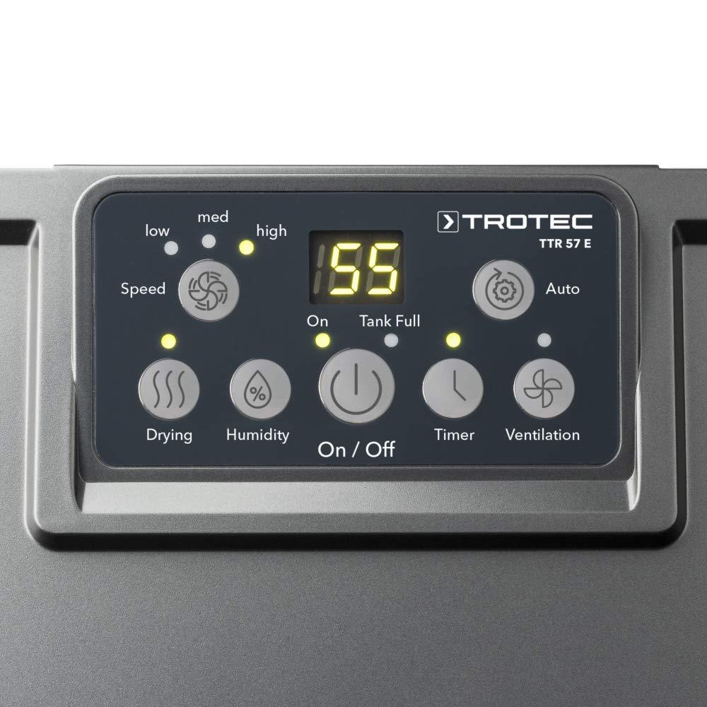 9 L//Tag TROTEC TTR 57 E Komfort-Luftentfeuchter geeignet f/ür R/äume bis 20 m/²//50 m/³