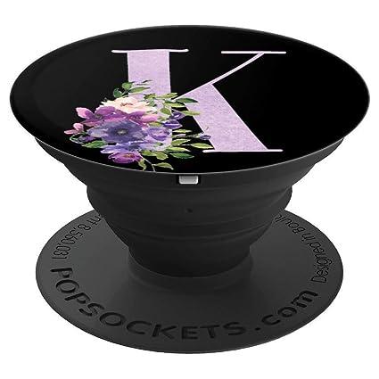 Amazon.com: Flores florales color morado lila monograma ...