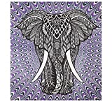 Purple Elephant Tapestries College Dorm Decor Psychedelic Wall Hanging Bohemian Tapestries Elephant Tapestry Hippie Tapestry Wall Tapestries Indian Tapestry Wall Hanging