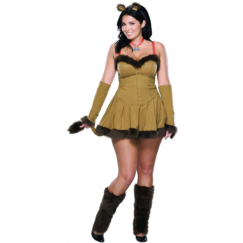 Amazon.com: Cowardly Lioness Costume - Plus Size - Dress Size Up ...