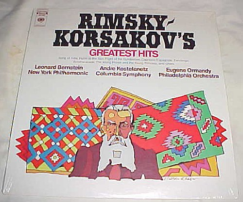 Price comparison product image Rimsky-Korstakov's Greatest Hits (New Never Opened) Song of India,  Hymn to the Sun,  Flight of the Bumblebee,  Capriccio Espagnole: Fandango,  Scheherazade: The Young Prince and the Young Princess, ,  and Others Record Album Vinyl LP