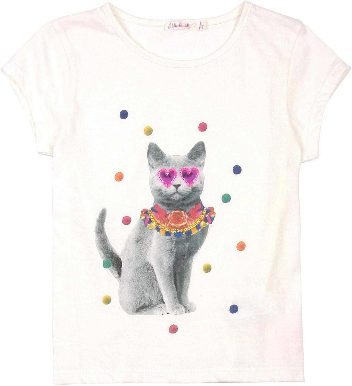 Billieblush Girls T-shirt with Cat Print Sizes 3-12
