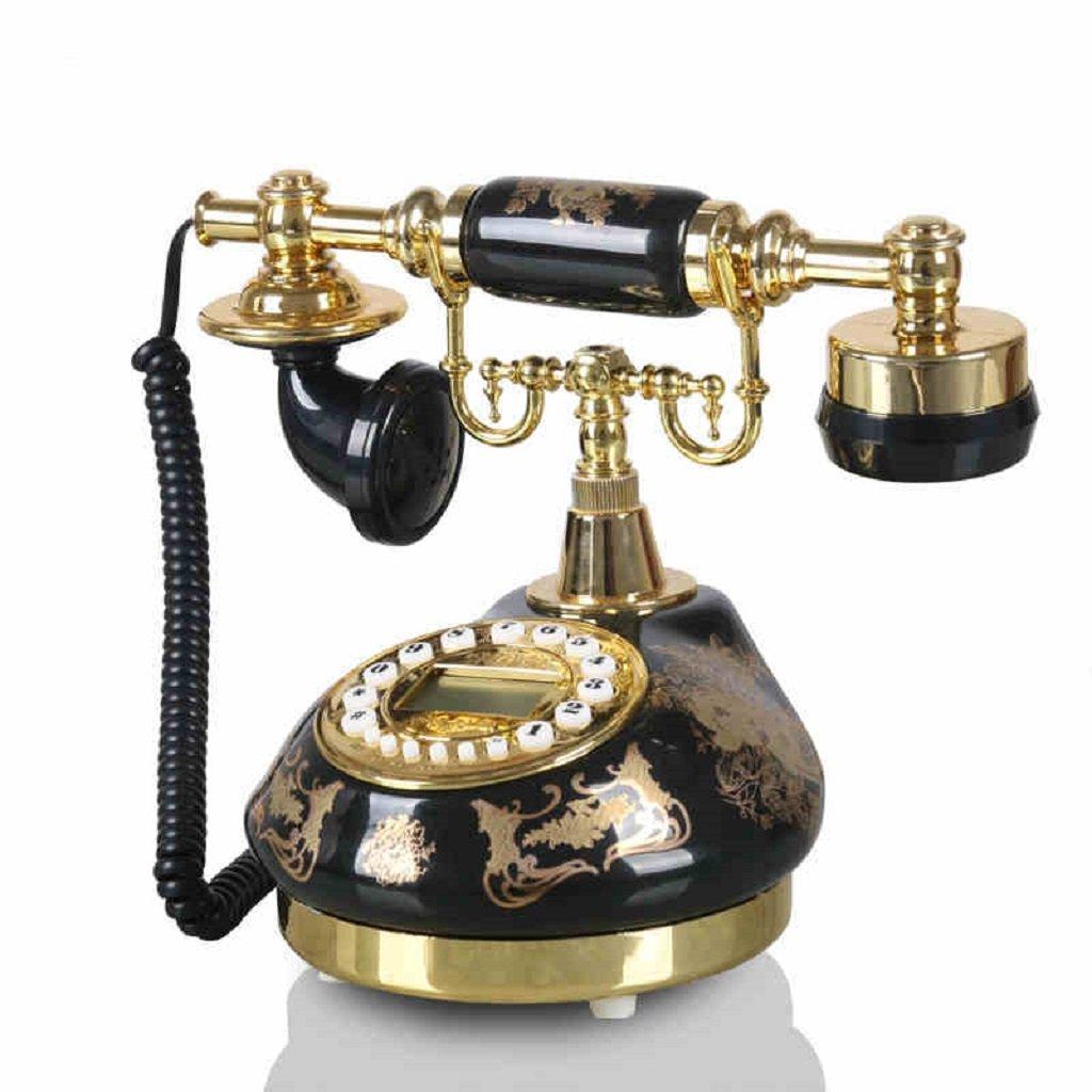 GQQ Corded Telephone Pastoral Antique Telephone Answering Machine Home Desktop Mobile Phone Living Room Set Answer Machine (Ceramics, 252015CM)