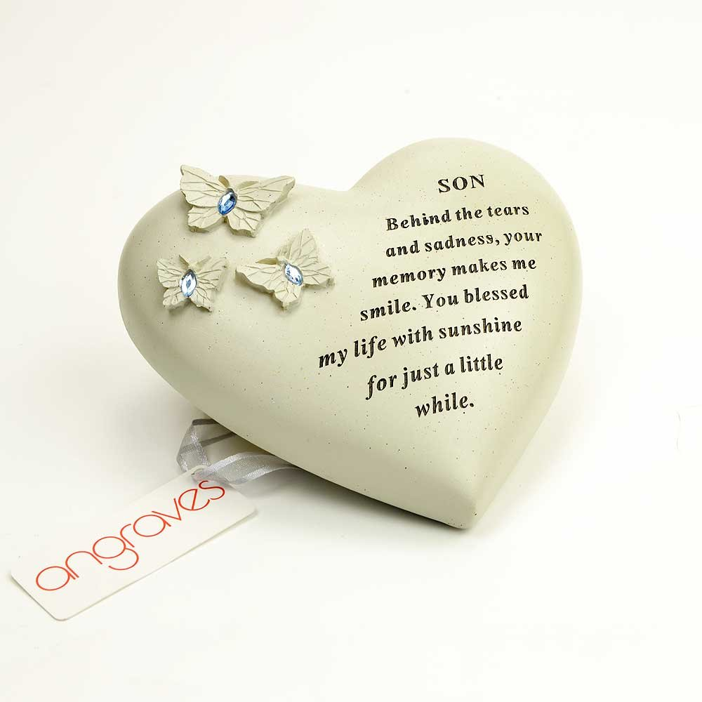 Son Butterfly Message Graveside Memorial Plaque Ornament