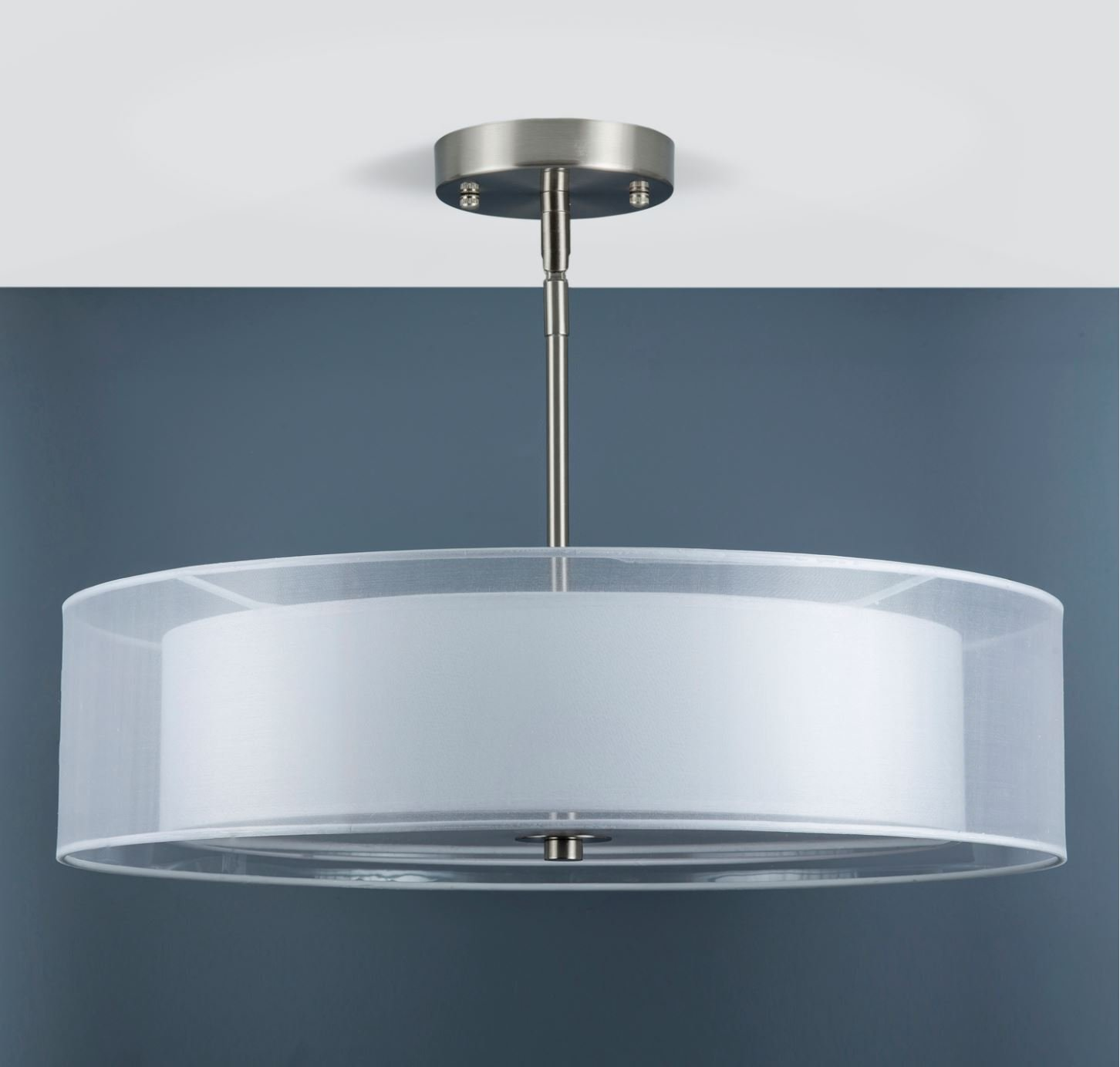Grazia 20 inch 3 Light Drum Chandelier Ceiling Light - Brushed ...
