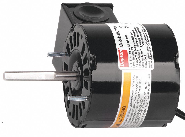 Dayton 1/30 HP, HVAC Motor, Shaded Pole, 3000 Nameplate RPM, 115 Voltage, Frame 3.3