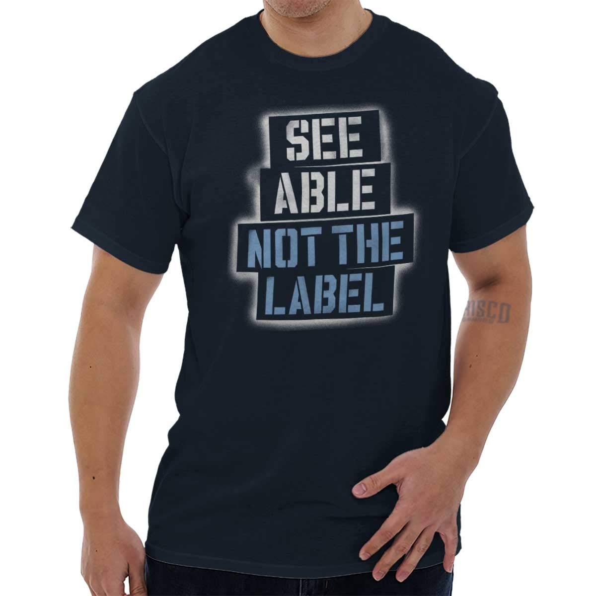 See Able Not Label Autism Awareness T Shirt Tee 4882