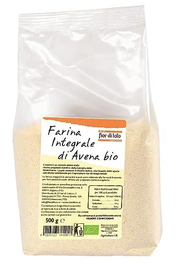Fior di Loto Harina Integral de Avena - 500 gr: Amazon.es ...