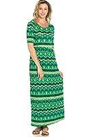 Sassy Apparel Women's Stylish Print Maxi Dress