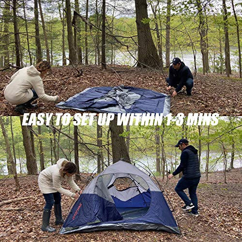 Hitorhike Camping Tent 2-3 Person Tent Ultralight Easy Set Up and Carry Family Tent Backpacking Tent for Camping, Hiking, Outdoor Festivals, Car Trip