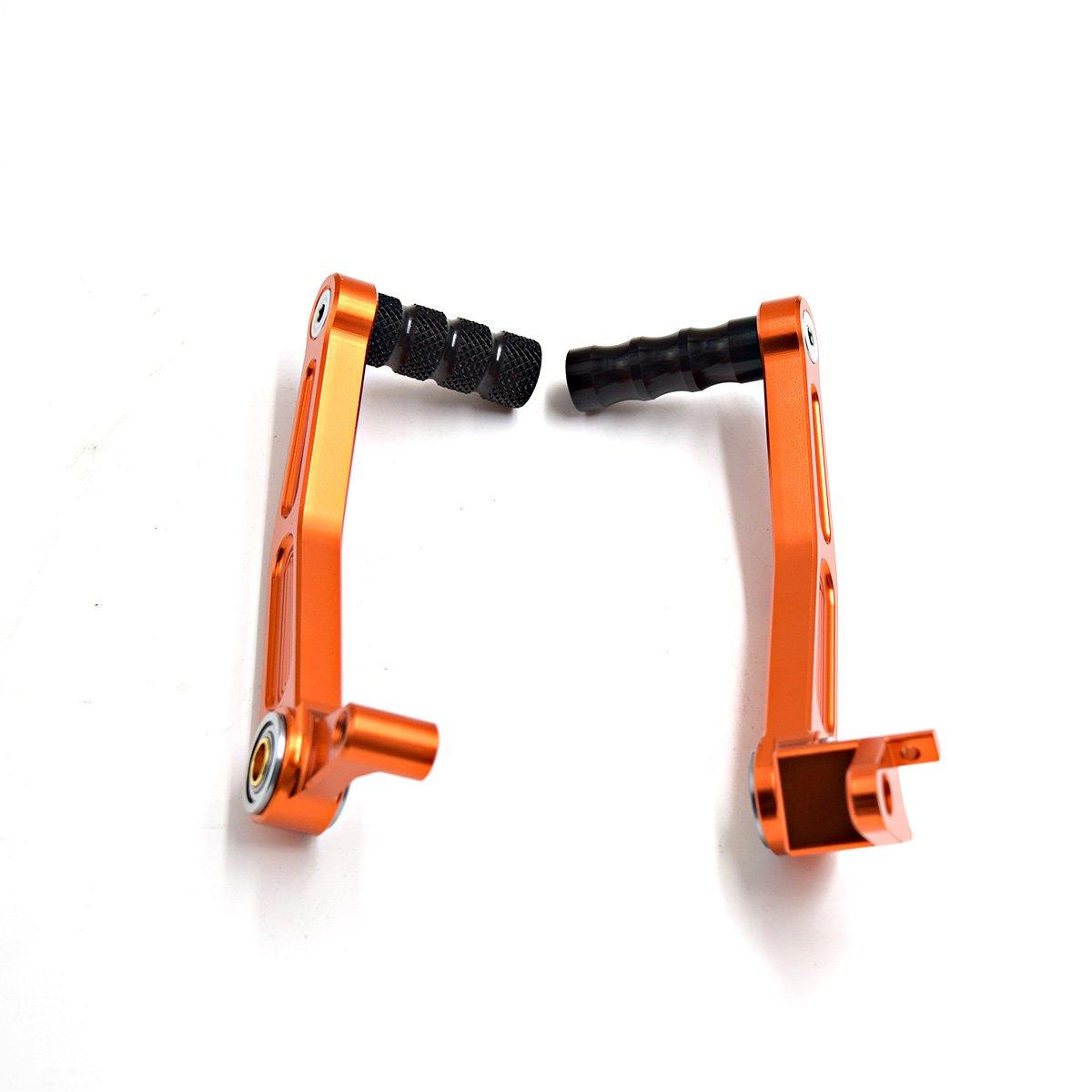 Frenos de la palanca de la motocicleta Pedales Palanca del cambio del engranaje del freno para Duke 125 200 390 RC125 / RC200 / Rc390 Palanca del pedal ...